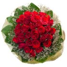 Artistic Thirty Red Roses Bouquet with Impression of love