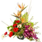 Touching Heart of Love Mixed Flowers Arrangement
