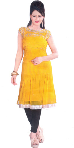 Colorful Comeliness Georgette Kurti