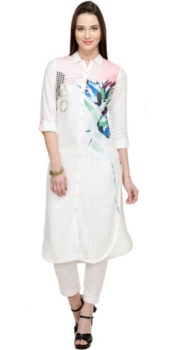 Intricate White Kurti by