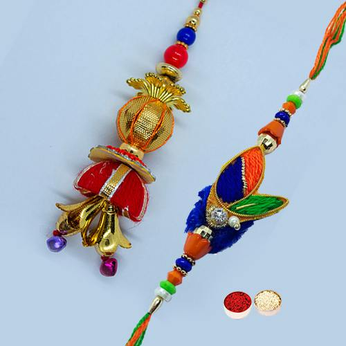 Rakhi with Stunning Work for Bhaiya Bhabhi