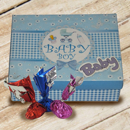 Tempting Baby Boy Homemade Chocolate Gift Box
