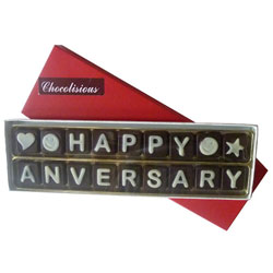 Dazzling Happy Anniversary SMS Chocolates for the Beloved