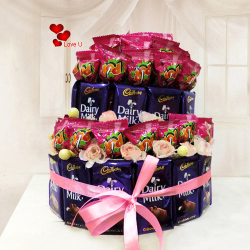 Send Chocolate Arrangement for Valentines Day