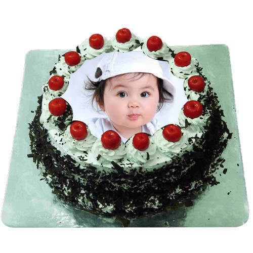 Deliver Online Black Forest Photo Cake