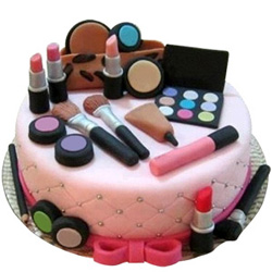 Gratifying Display Makeup Set Theme Cake