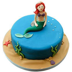 Ecstasy-to-Enjoy Mermaid Theme Cake
