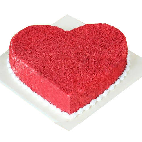 Shop Red Velvet Cake in Heart-Shape Online