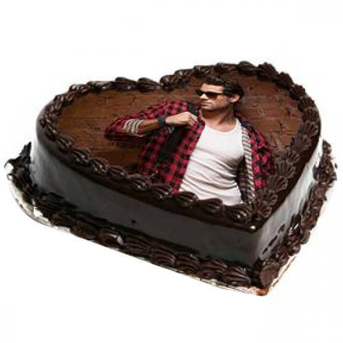Send Online Photo Cake in Heart Shape