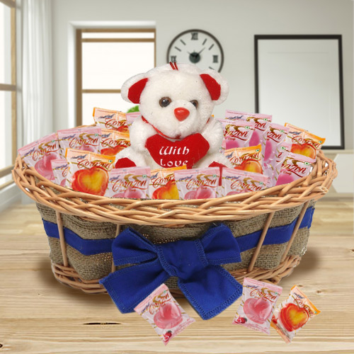 Charming Tower of Chocolates and Teddy
