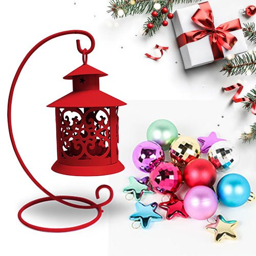 Alluring Tea Light Holder with Santa N Decor
