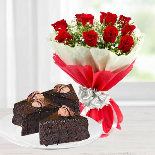 Magnificent Rose and Chocolate Duo