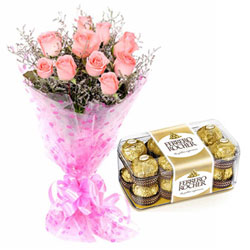 Silky-Smooth Pink Rose and Ferrero Roacher Chocolate