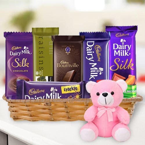 Basket of Chocolates N Teddy