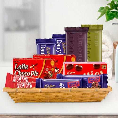 Basket of Tasty Chocolate