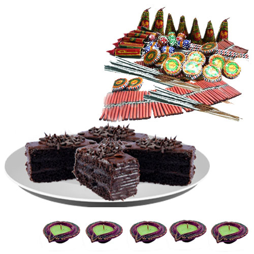 Assorted Fire Crackers n Tasty Chocolate Pastries