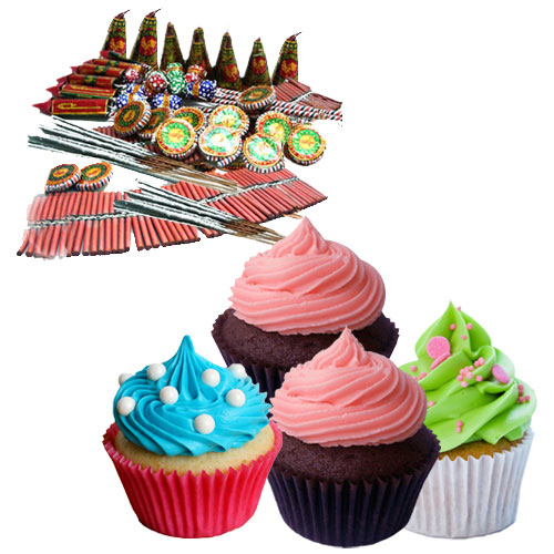 Fascinating Cup Cakes nd Fire Crackers