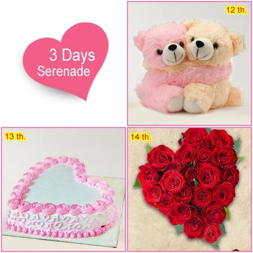 Wish Her with 3 Day Serenade Gifts