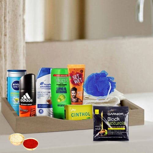 Bright Little Luxury Pamper Hamper with free Roli Tilak and Chawal