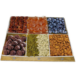 Arrayed Grub Dry Fruit and Chocolate Platter