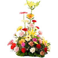 Special Arrangement of Beautiful Mixed Flower with Passion