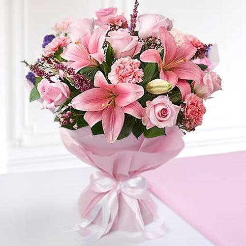 Stimulating Heart of Love Mixed Seasonal Flower Bouquet