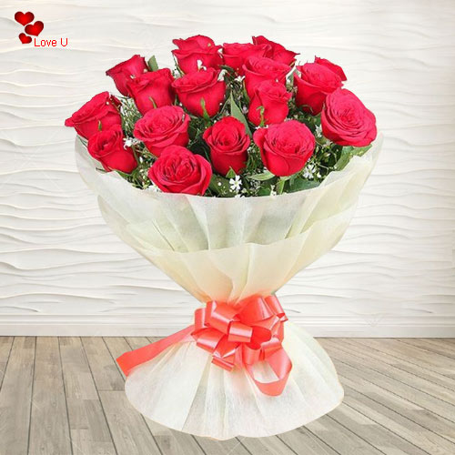 Book Online Dutch Roses Hand Bunch for Lady Love