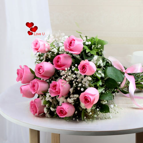 Book Pink Roses Bouquet Online