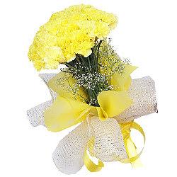 Radiant Composition of Yellow Carnations
