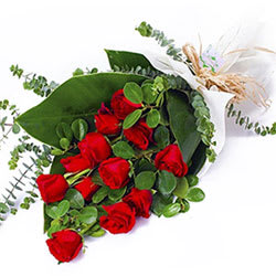 Hearts in Harmony Red Roses Bouquet