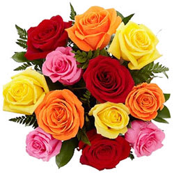 Stunning Stands for Love Mixed Roses Arrangement