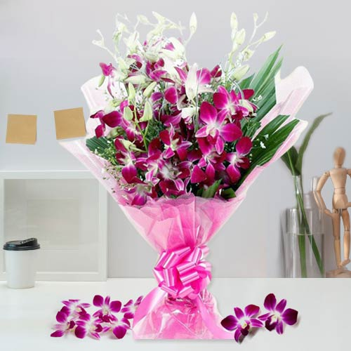 Elegant World Class Orchids Bouquet