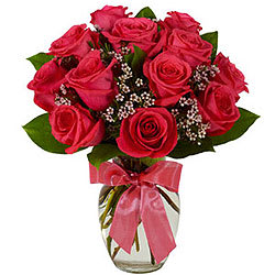 Pure Indulgence Red Roses in a Vase