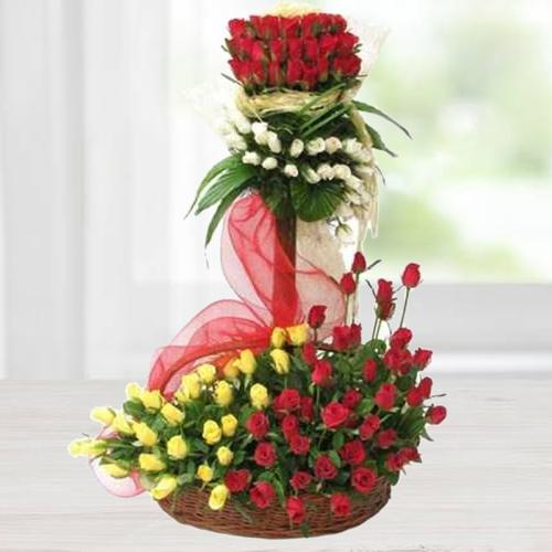 Regal Arrangement of Astonishing Roses