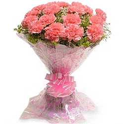 Deliver an attractive Pink Carnations Bouquet