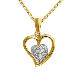 Ecstatic Heart Shaped Pendant