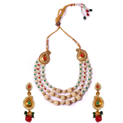 Gaudy Gift of Pearl Necklace Set