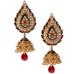 Classic Earring Set in Jhumka Pattern