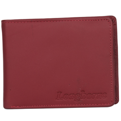 Showy Gents Leather Wallet from Longhorn in Brown
