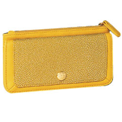 Mesmerizing Signature Spice Modern Yellow Wallet Made by Avon
