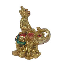 Feng Shui Monkey on Elephant