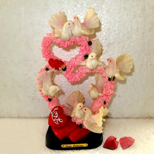 Tantalizing Love Hearts with Love Birds Set