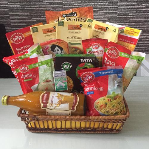 Tempting Full Time Indian Dinner Hamper