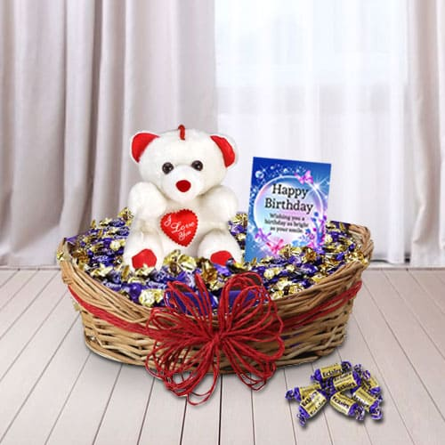 Special Birthday Surprise Gift Basket<br>