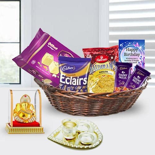 Miraculous Happy Birthday Gift Basket for Her<br>