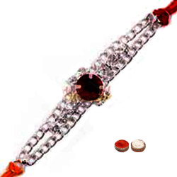 Showy One Rakhi with Big stone in Center