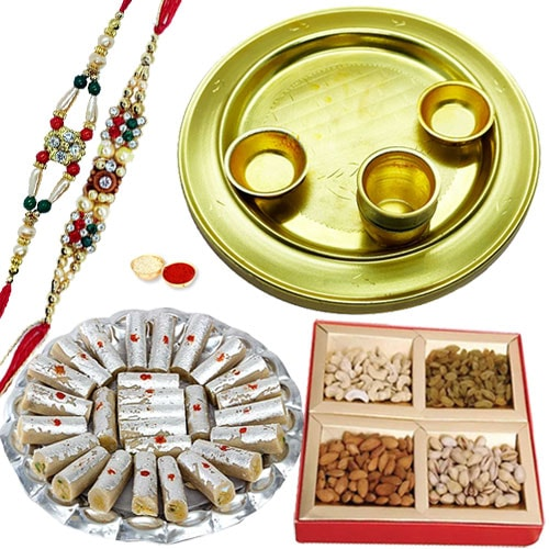 Special Gold Plated Thali Hamper1