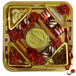 Ambrosial Attachment Rakhi Chocolate Thali