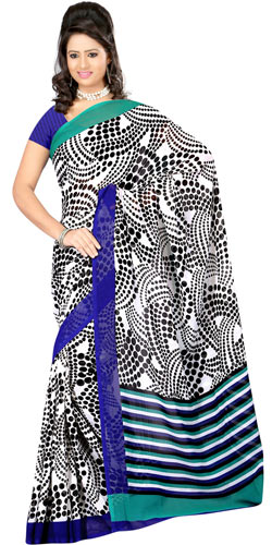 Designer Dani Georgette Saree with Dynamic Allure