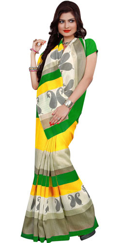 Fashionable Women�s Collection Printed Saree from Rainbow